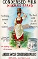 150320 Nestle Milkmaid poster red skirt and alpine landscape, England, 1900, AS F1-7.jpg